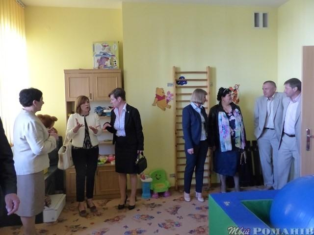 Кімната психологічної реабілітації для дітей в будівлі староства Кольбушовського повіту